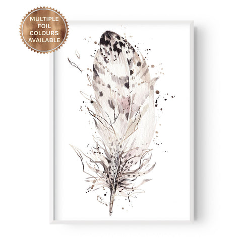 Boho Single Feather - Part Foiled - Hustle Living