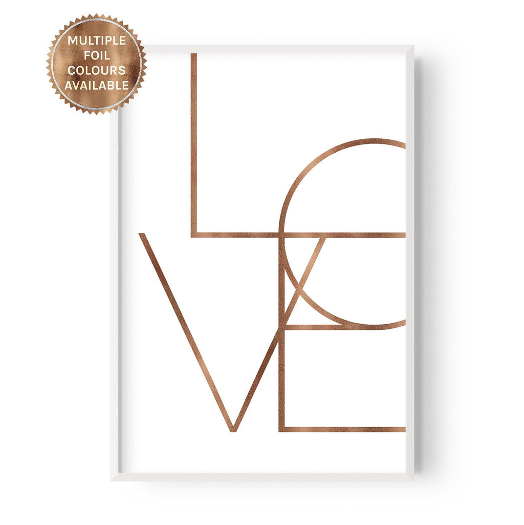 Vertical Love - foiled - Hustle Living