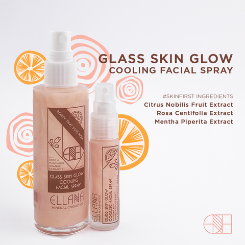 Ellana Mineral Cosmetics - Glass Skin Glow Cooling Facial Spray