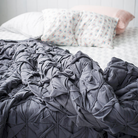 Ellana Mineral Cosmetics - stock image bed and bedsheets