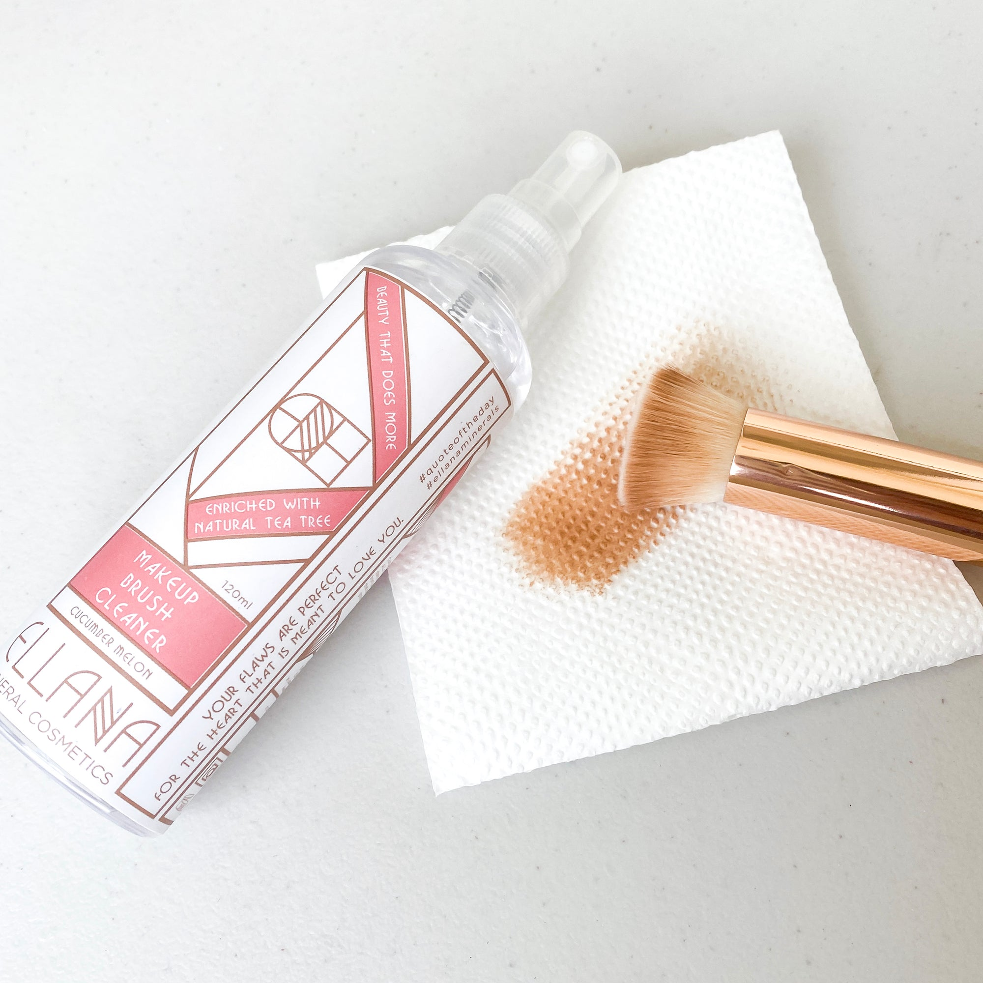 Keep clean with the Ellana Instant-Dry Makeup Brush Cleaner.