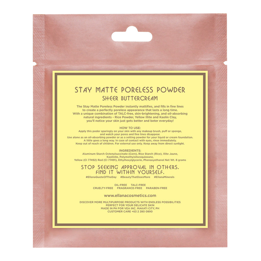 Buttercream [Refill Only]│Stay Matte Poreless Powder