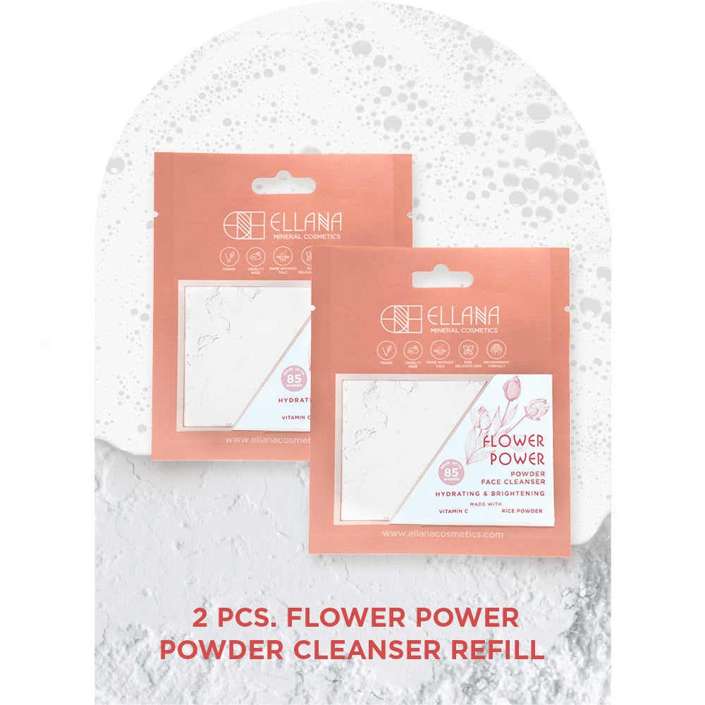 Flower Power Powder Face Cleanser Refill 2 pcs, Hydrates And Brightens