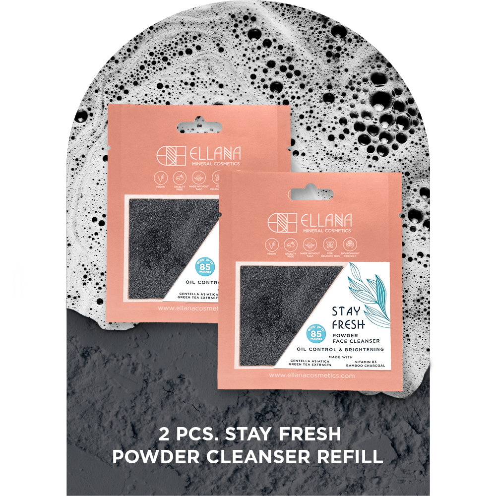 Stay Fresh Powder Face Cleanser Refill 2 pcs, Controls Oil And Brightens