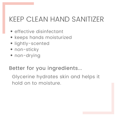 Free Gift | Keep Clean Hand Sanitizer