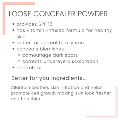 Loose Mineral Concealer Powder with Jar