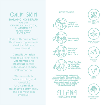Calm Skin Balancing Serum with Centella Asiatica for Sensitive and Reactive Skin