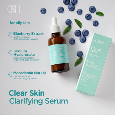 Clear Skin Clarifying Serum with 91.6% Blueberry and Botanical Actives