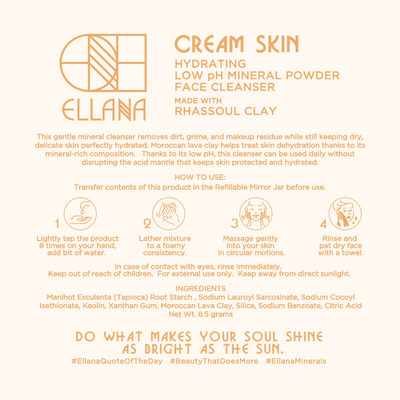 Cream Skin Hydrating Low pH Mineral Powder Face Cleanser for Dry and Maturing Skin