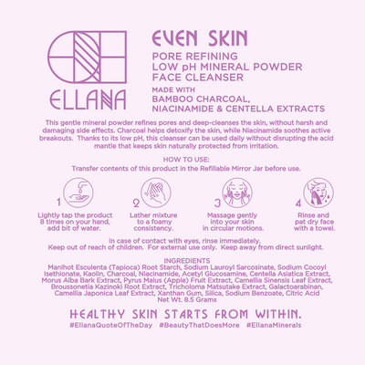Even Skin Pore Refining Low pH Mineral Powder Face Cleanser for Acne-Prone Skin