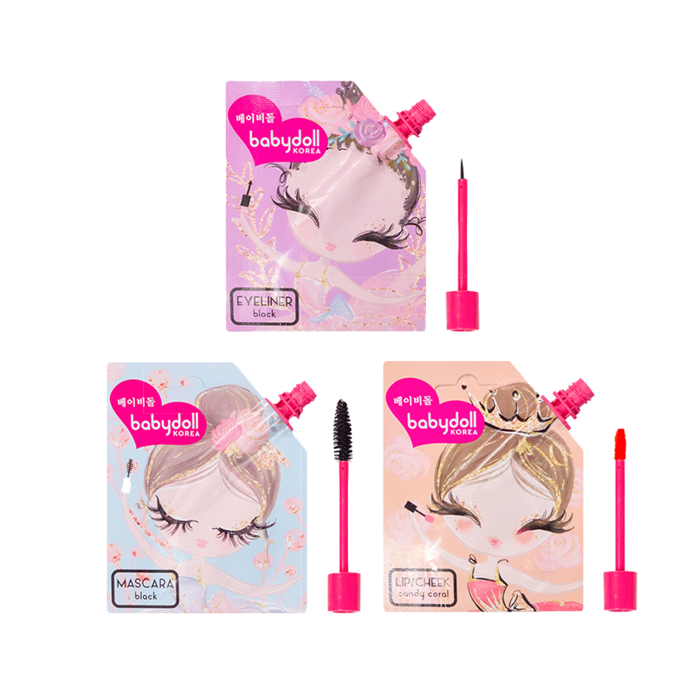 Babydoll Set | Lip and Cheek, Mascara, and Eyeliner