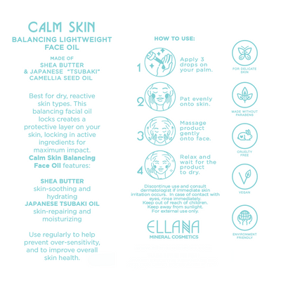 Calm Skin Balancing Lightweight Face Oil for Sensitive and Reactive Skin