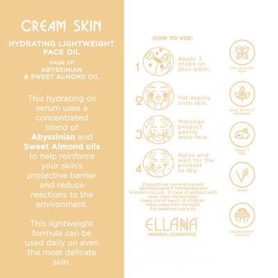 Cream Skin Hydrating Lightweight Face Oil for Dry and Maturing Skin