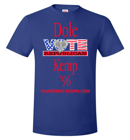 Dole and Kemp 96 Presidential Election T-shirt
