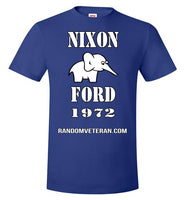 Nixon Ford Presidential Throwback Scandal Political T-shirt