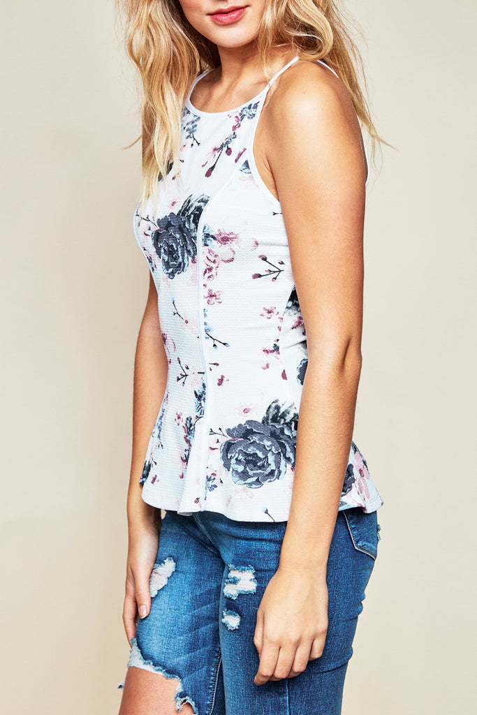 FLORAL FLARED TANK