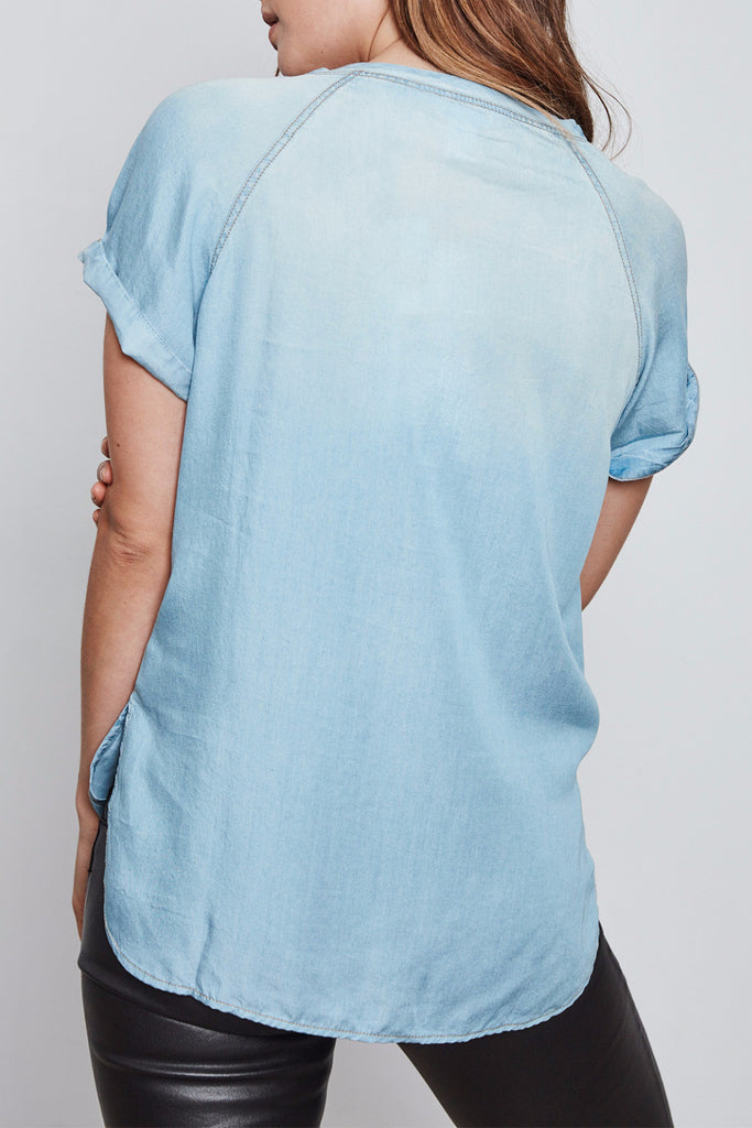LIGHTWEIGHT DENIM TEE