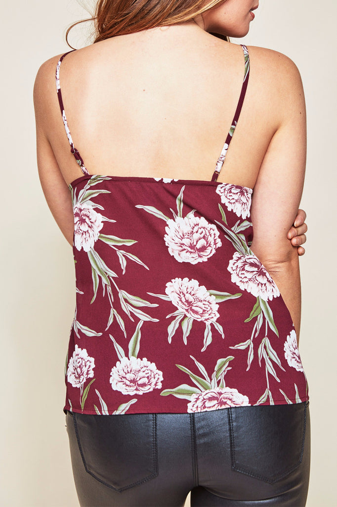 FLORAL LACE TRIM SWING TANK
