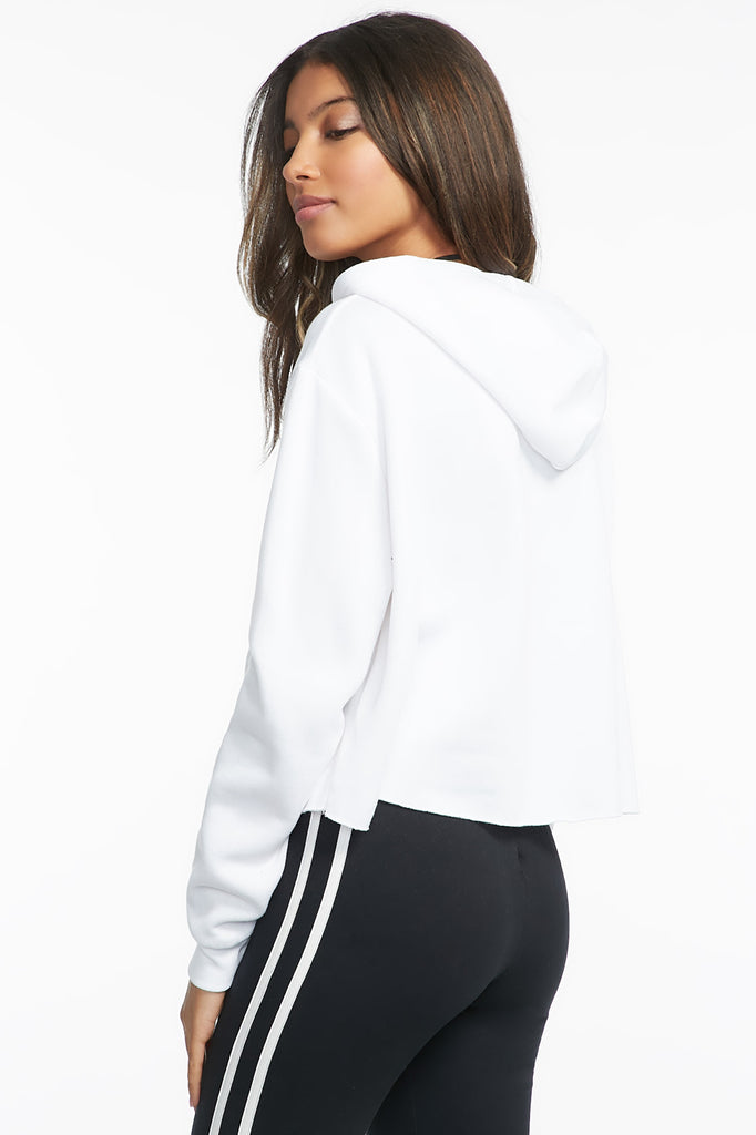Classic Cropped Drawstring Hoodie