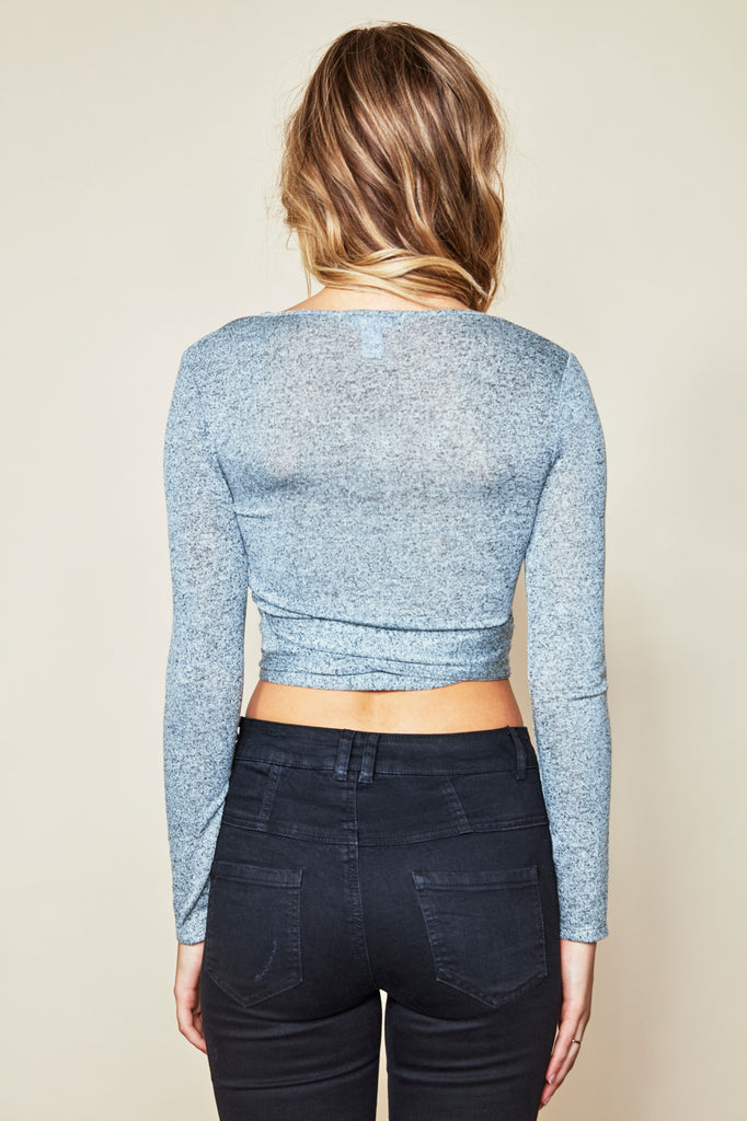 MARLED WRAP CROP TOP