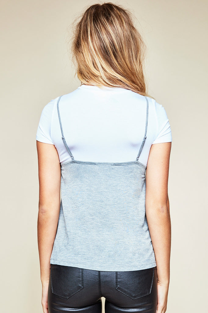 LACE TRIM CAMI TEE - STYLE STEALS