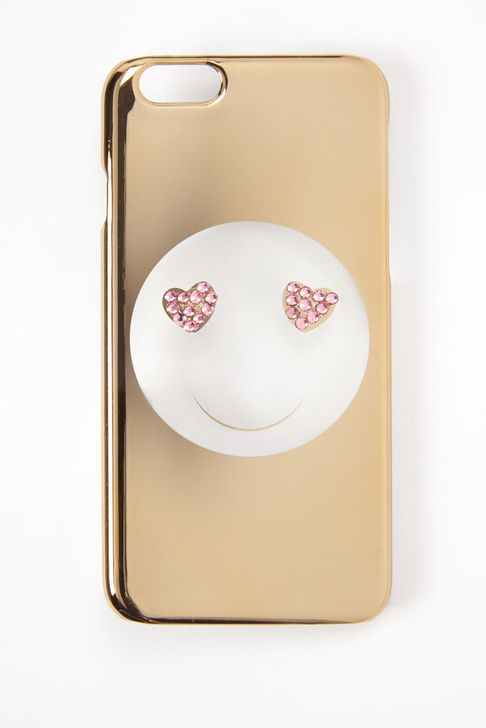 Faux Gem Heart Smiley Face iPhone 6 Case