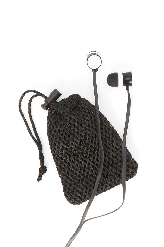 Earbuds with Fishnet Pouch