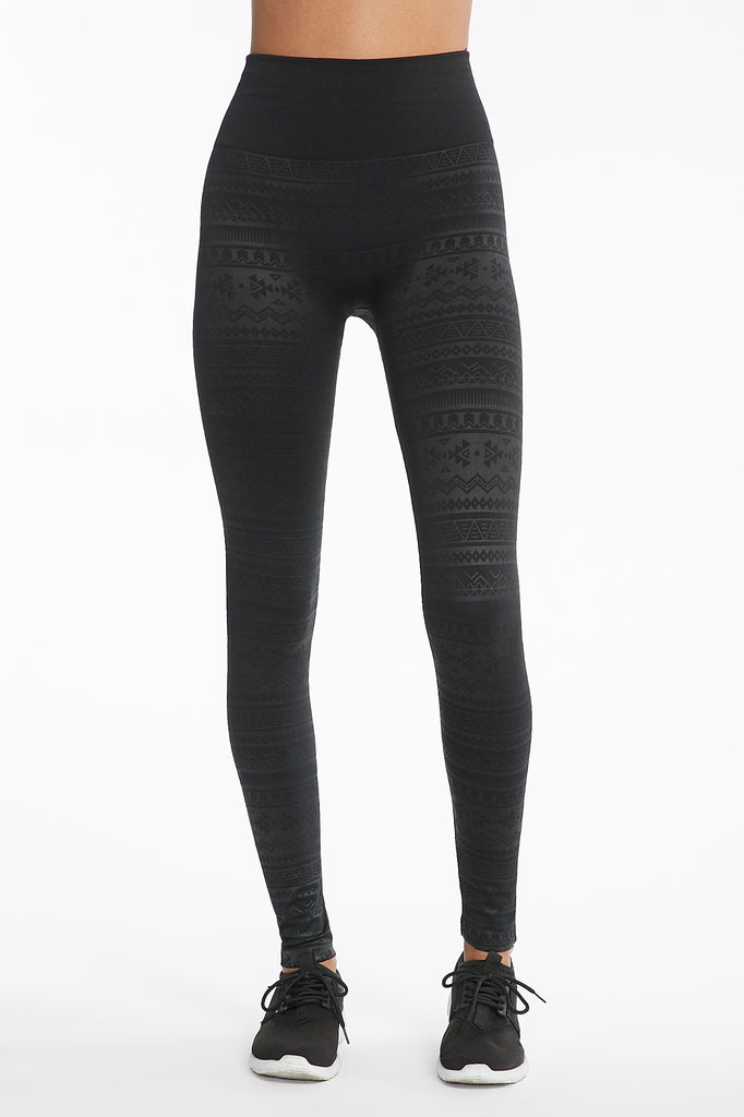 Fleece-Lined Tribal Print Legging