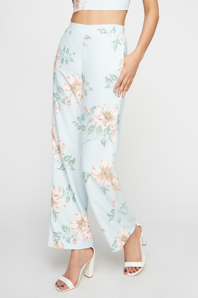 High-Rise Floral Palazzo Pant