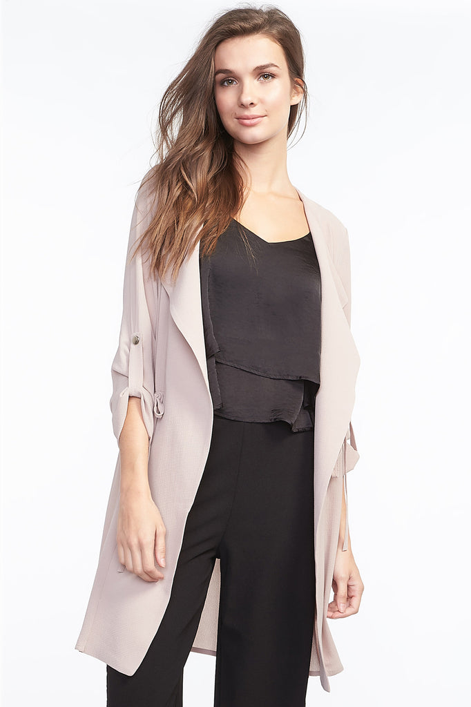 Waterfall Drawstring Blazer