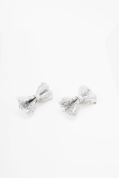 Sequin Alligator Bowtie Hair Clip Set (2 Pack)