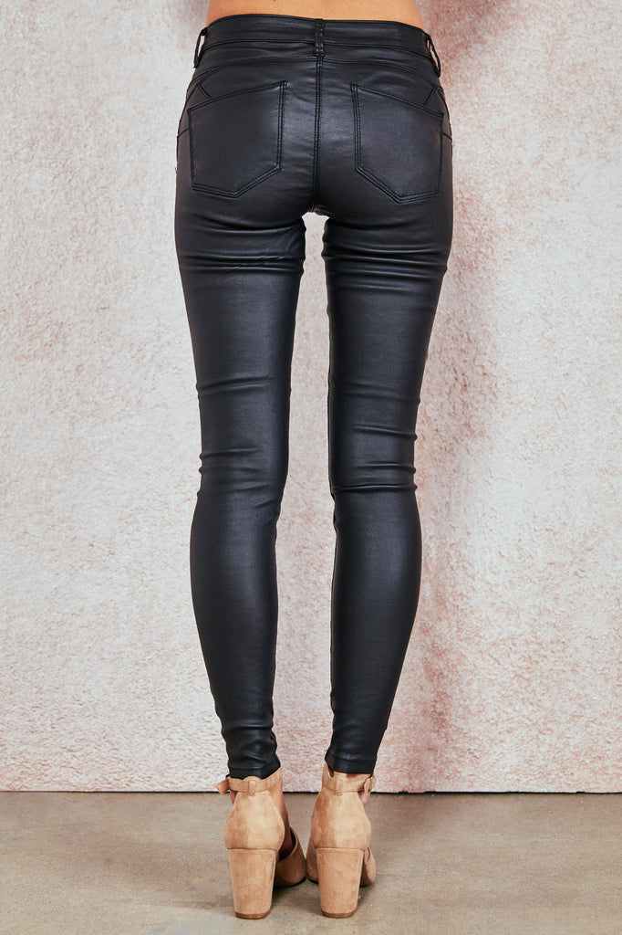 FAUX LEATHER RIO LOW RISE BETTER BOOTY JEGGING