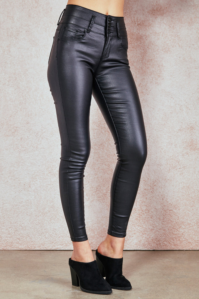 FAUX LEATHER IBIZA ULTRA HIGH RISE BETTER BOOTY JEAN - SALE