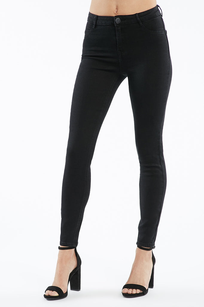 Black Madrid High-Rise Jegging