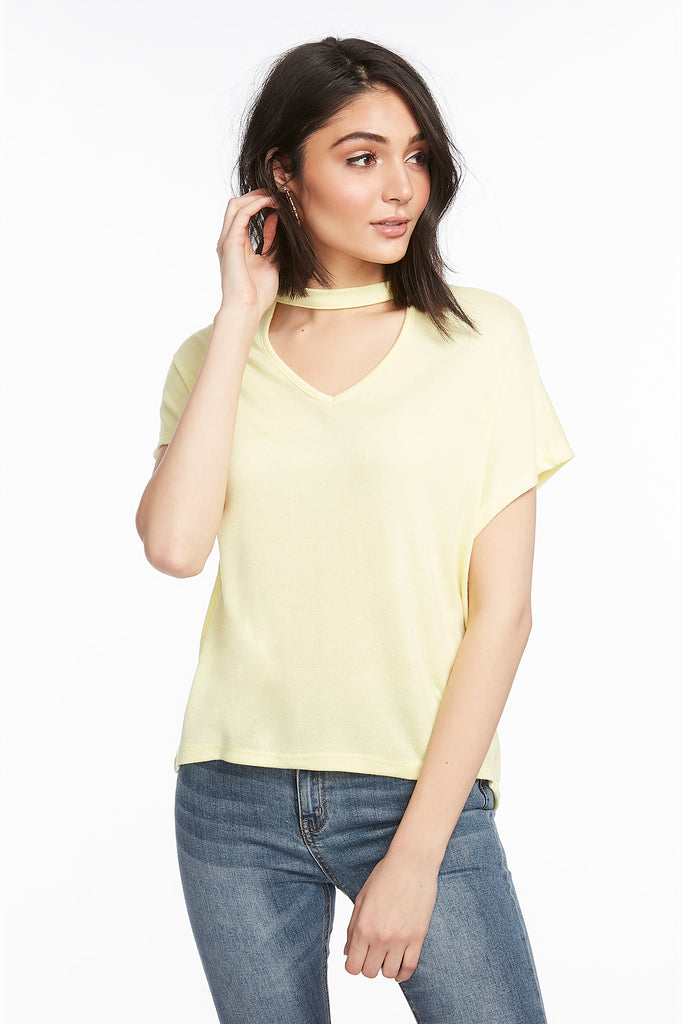 Dolman High-Low Choker T-Shirt