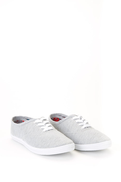 Memory Foam Insole Canvas Lace-Up Sneakers