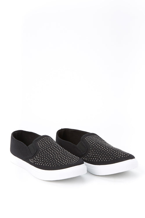 Slip-On Studded Sneakers