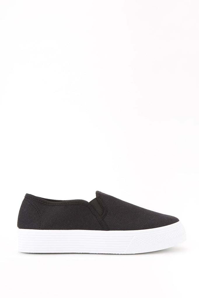 Platform Canvas Slip-On Sneakers