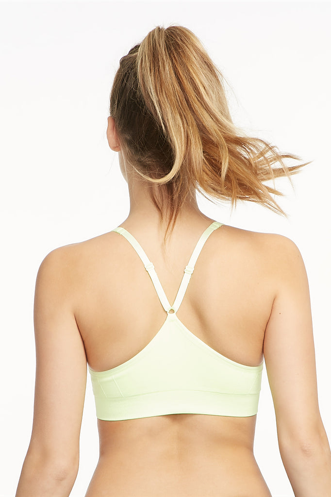 Mesh Cutout Panel Racerback Sports Bra