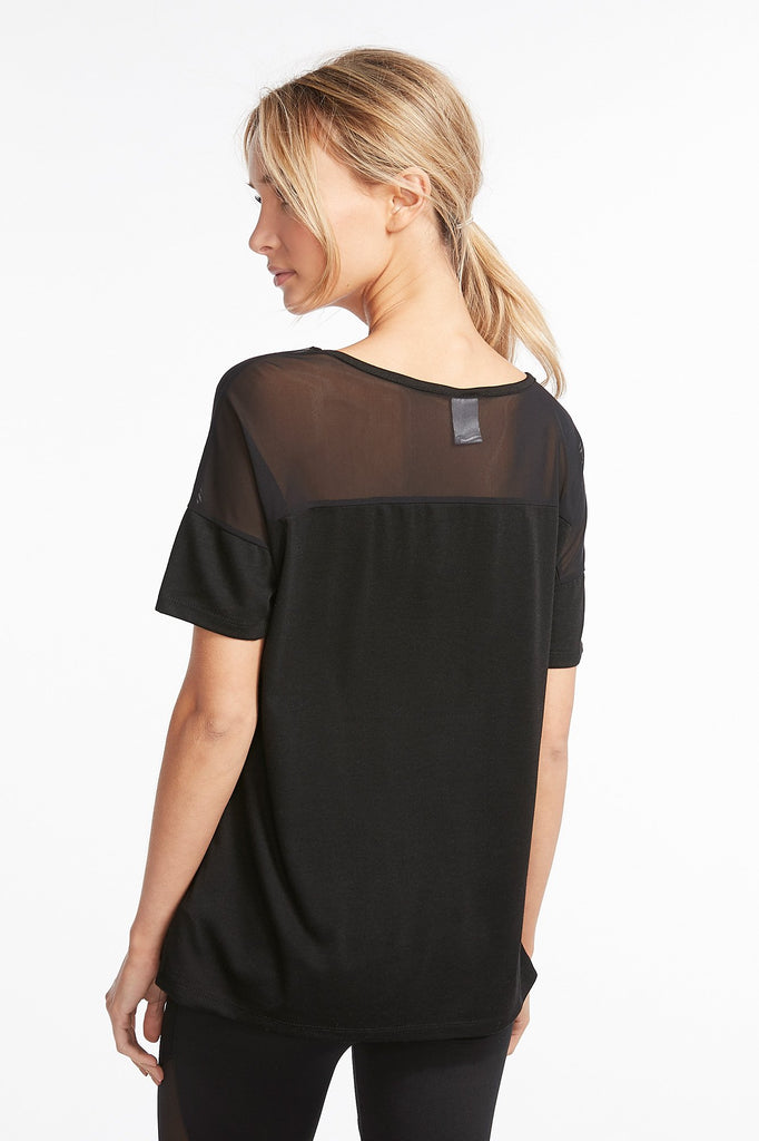 Mesh Cutout Graphic T-Shirt
