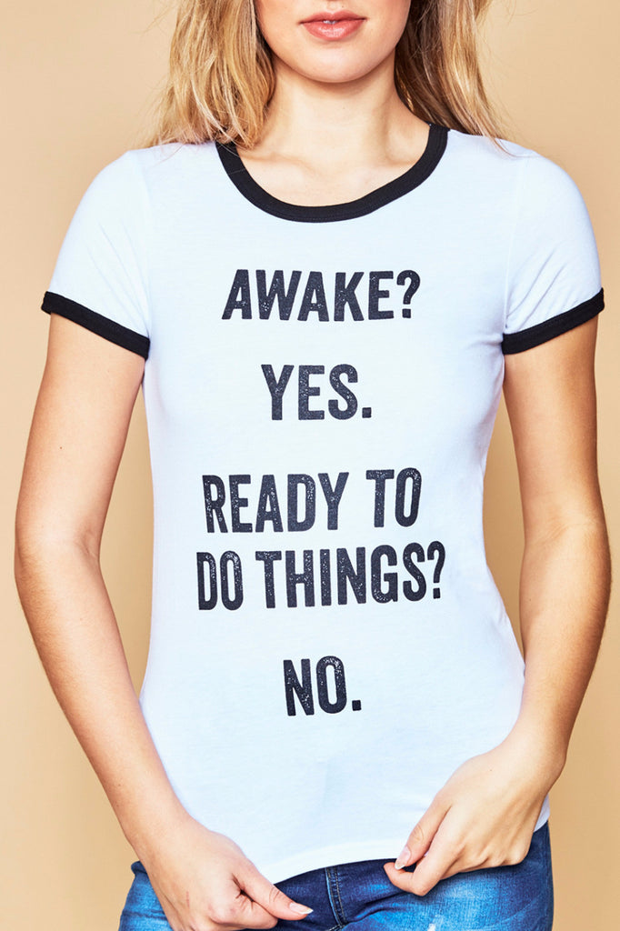 AWAKE GRAPHIC RINGER TEE