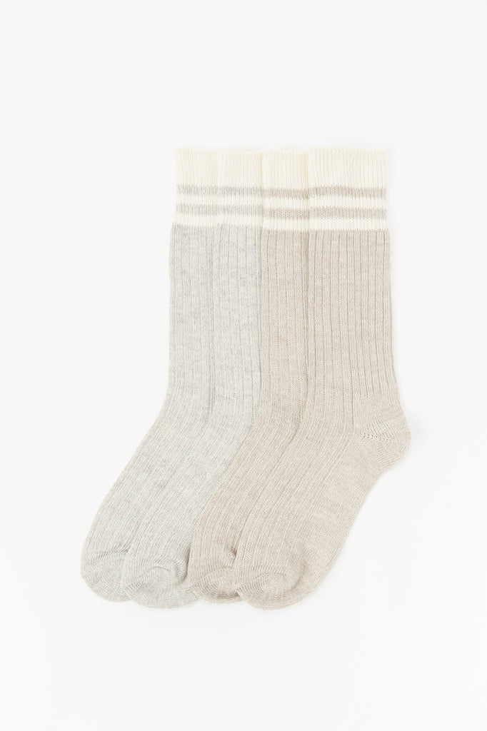 Striped Boot Socks (2 Pairs)