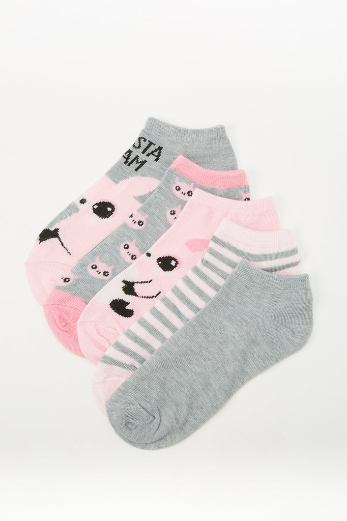 Assorted Pig Socks (5-Pack)