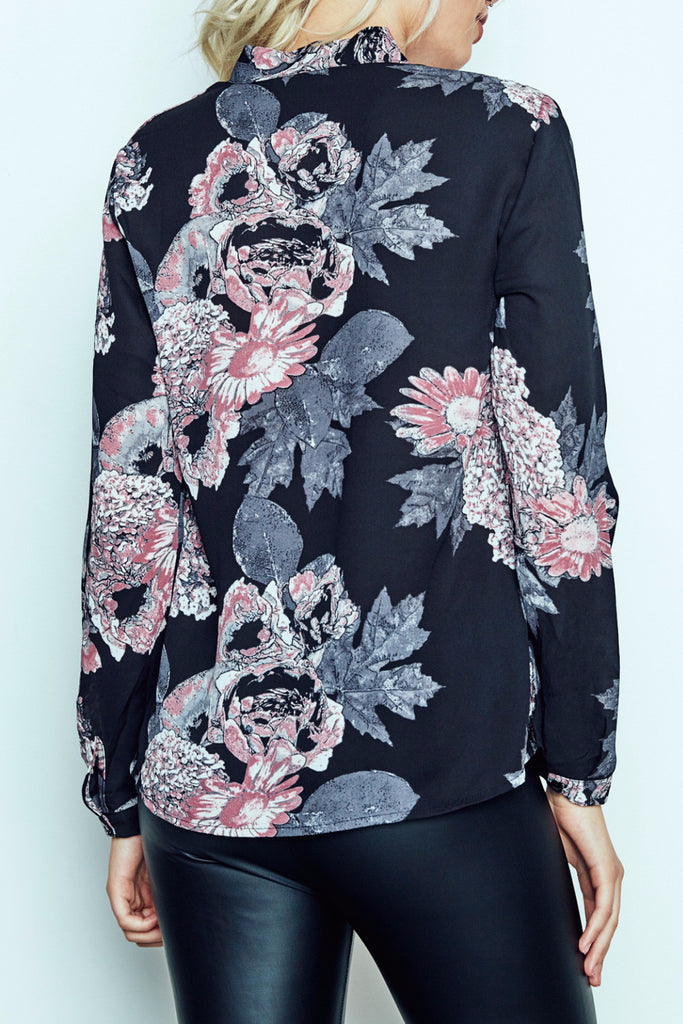 FLORAL PRINT TIE-UP TOP