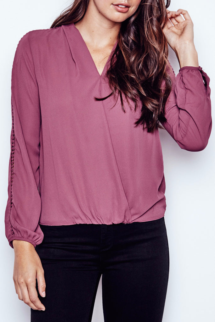 LIGHTWEIGHT WRAP FRONT BLOUSE