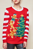 LIGHT-UP HOLIDAY PRINT SWEATER - HOLIDAY