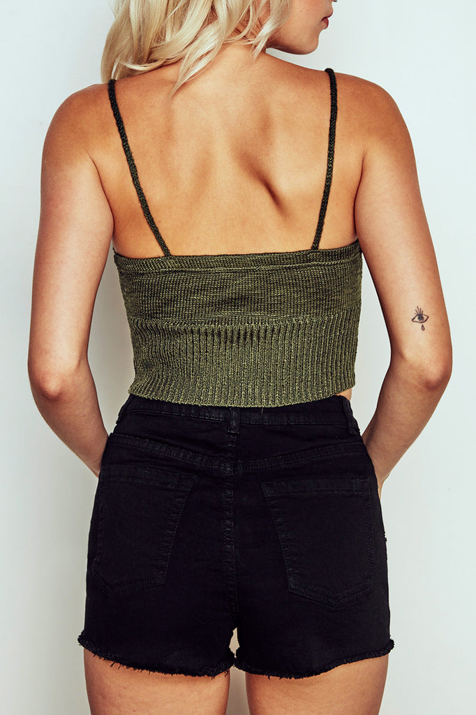 RIBBED KNIT CROPPED TANK