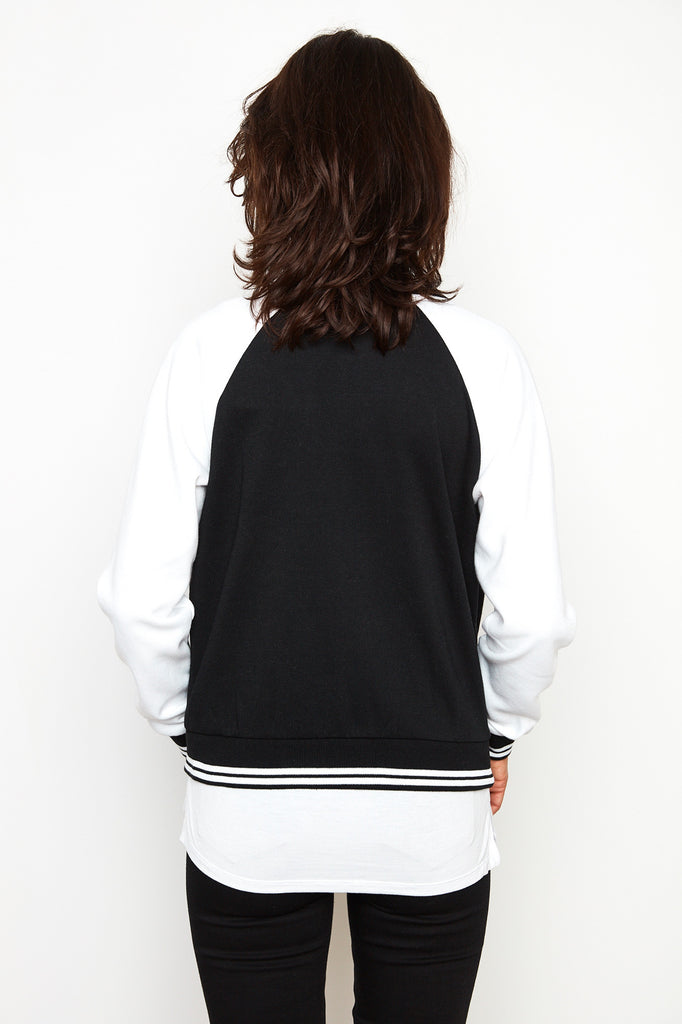 VARSITY ZIP-UP BOMBER JACKET