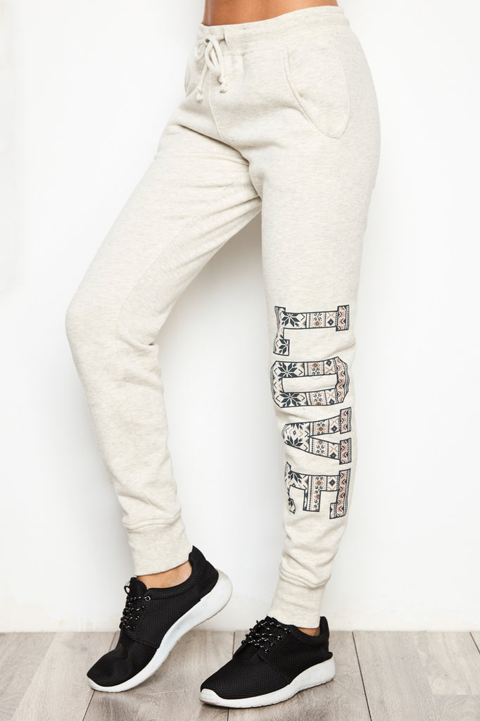 LOVE GRAPHIC JOGGER
