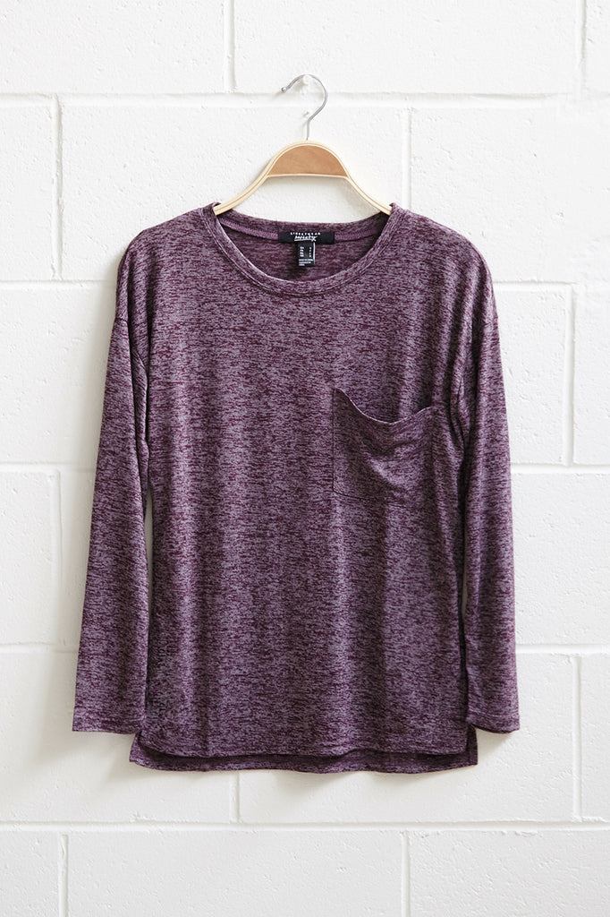 MARLED RELAXED FIT POCKET TEE